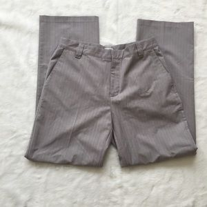 ADIDAS Women's Size M Dress Pants Striped Gray